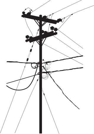 cable telefono: silueta de torre de transmisi�n  Vectores