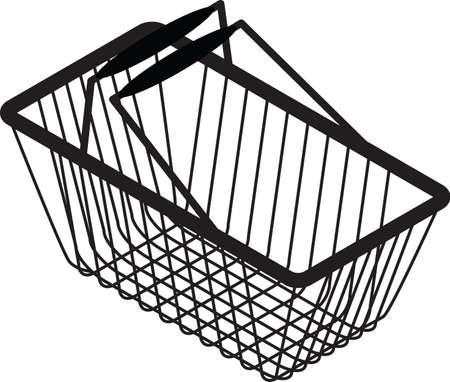 retail equipment: shopping bag silhouette