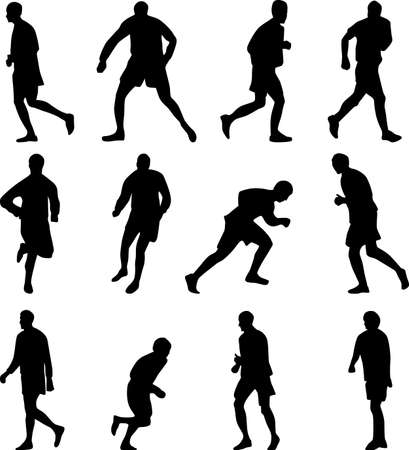 soccer player collection silhouette
