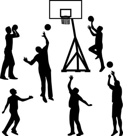 basketball player silhouette vector Vector