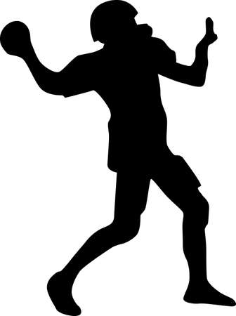 american football helmet collection: american football player silhouette