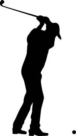 Golf player silhouette vector Stock Vector - 9680710