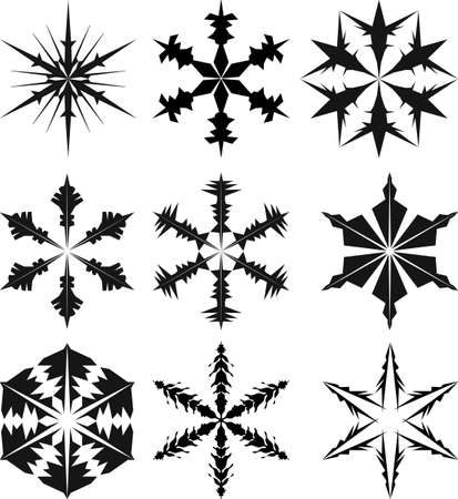 snowflake silhouette vector