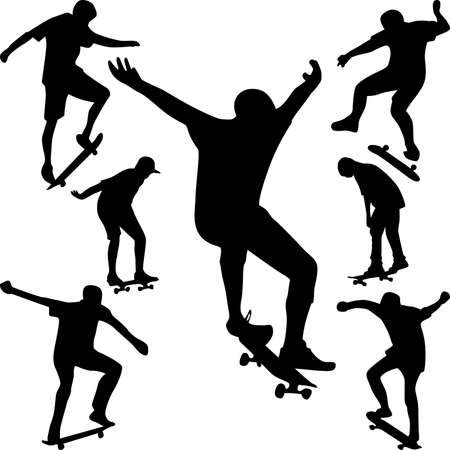 skateboarder: skater silhouette Illustration