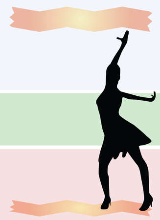 Dance background vector Vector