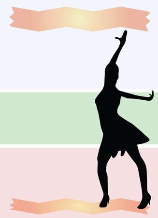 dance shadow: Dance background vector