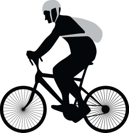 bicyclist silhouette vector Stock Vector - 13546189