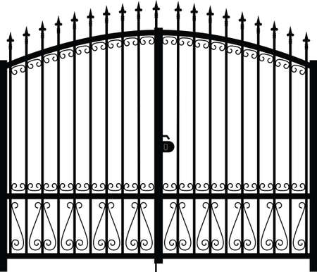gate silhouette Illustration