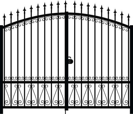 gate silhouette Stock Vector - 15284704