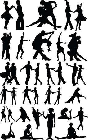 dans människor Illustration