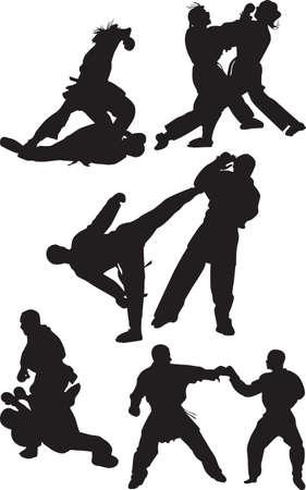 chi: karate silueta