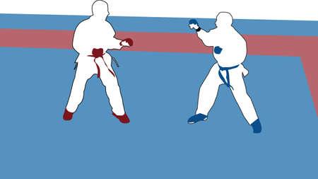 karate vector Stock Vector - 17896202