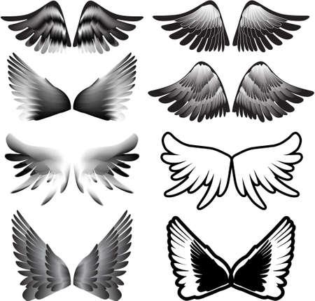 vingar tatuering silhuett