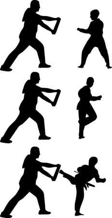 taekwondo silhouette Stock Vector - 20277961