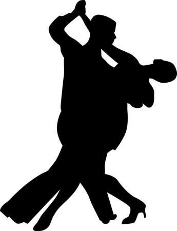 Tanz Leute Silhouette Standard-Bild - 20416834