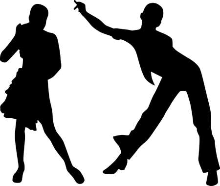 Dance people silhouette  photo