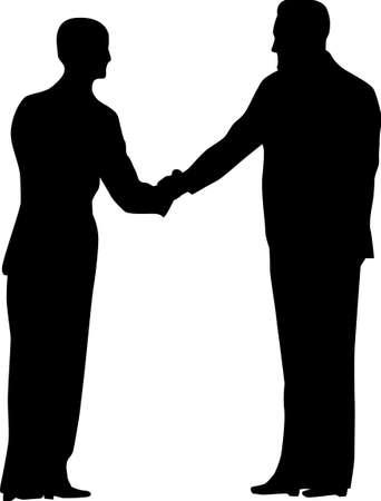 handclasp: handshake silhouette