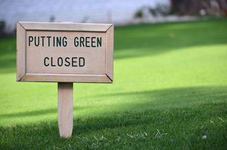 arbre: golf sign putting green closed Stock Photo