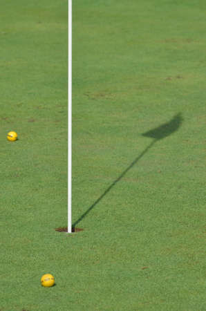 golf terrain with two balls photo