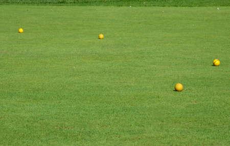 golf terrain with four balls photo