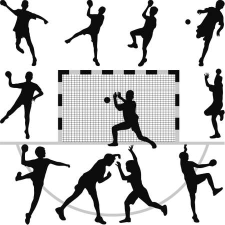 vecteur silhouette de handball Vecteurs