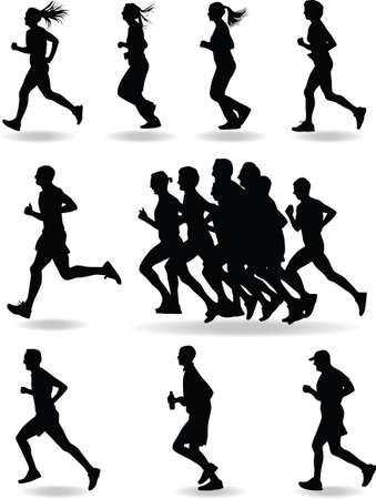 runner silhouette vector Vector