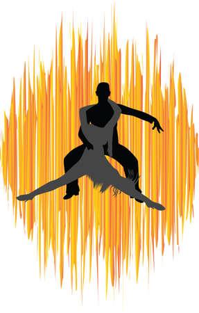 dans människor silhuett vektor