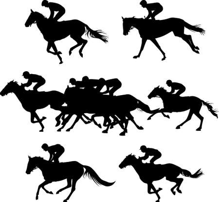 horse gallop race Illustration