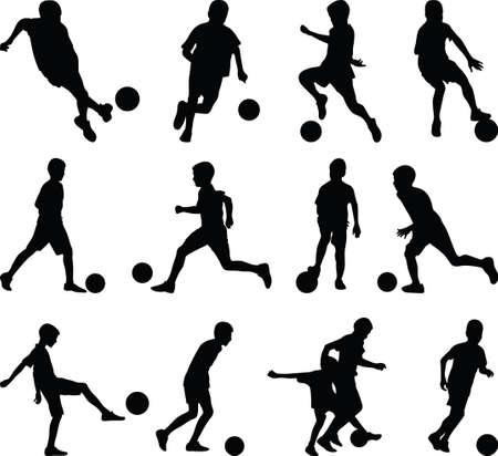 kid play soccer Vettoriali