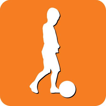 young girl feet: kid playing soccer