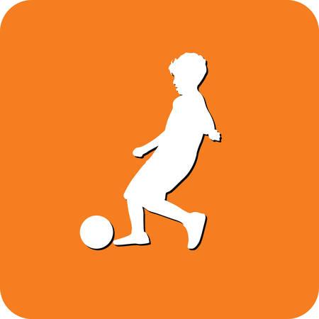 ball park: kid play soccer Illustration