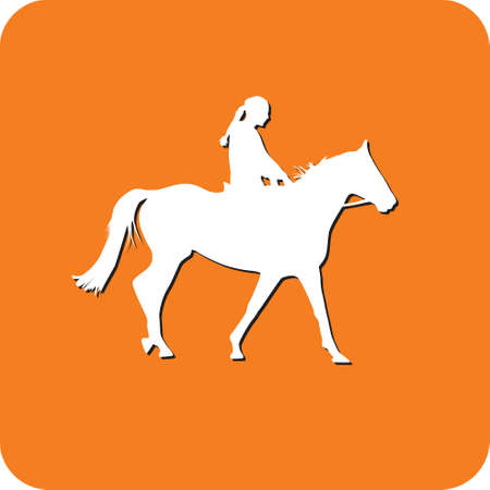 trot: jockey riding a horse