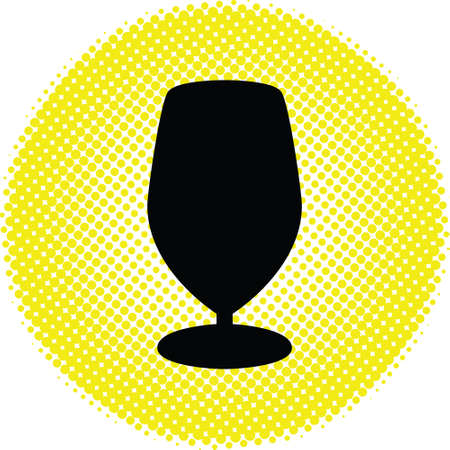nonalcoholic beer: Bottle and glasses silhouette vector