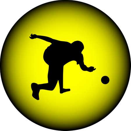 hit man: bowling Illustration