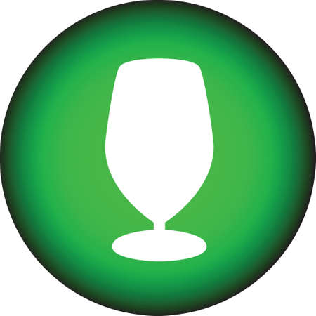 nonalcoholic: Bottle and glasses silhouette vector