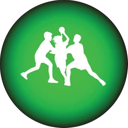 jump shot: handball Illustration