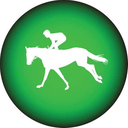 bridle: jockey riding a horse