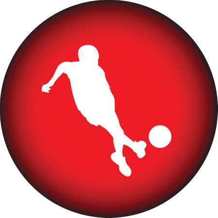 foul: kid play soccer Illustration