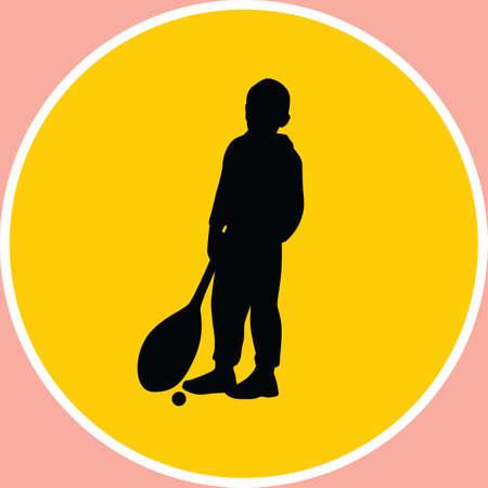 funy: kid as tenis player