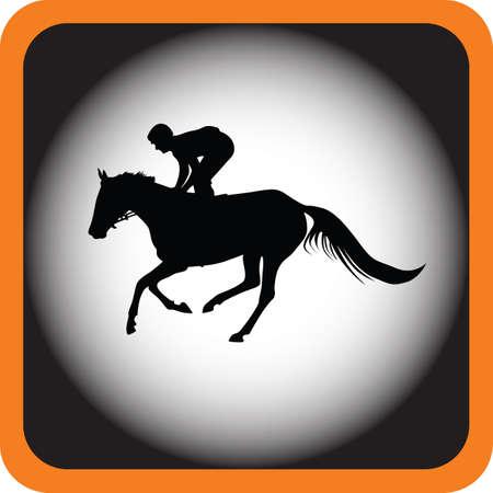 uomo a cavallo: fantino a cavallo