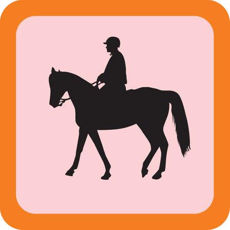 trot: policeman riding a horse