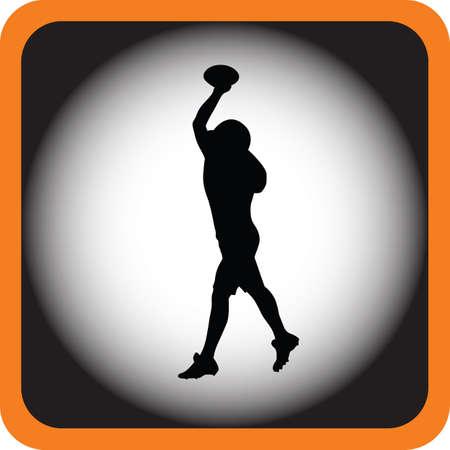 receiver: football player Illustration