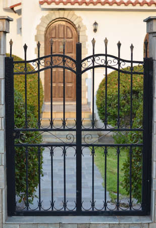metal gate for a private house