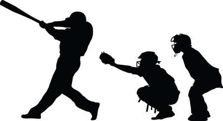 Baseball batter catcher and umpire
