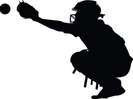 Honkbalvanger Vector Illustratie