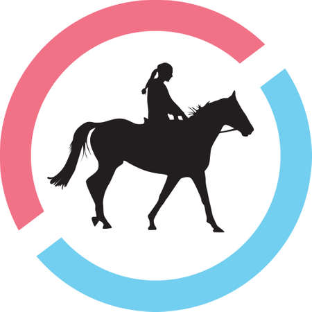 jockey riding a horse illustration.
