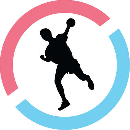 handball silhouette illustration.