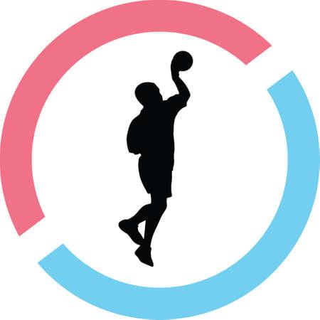 handball silhouette illustration.
