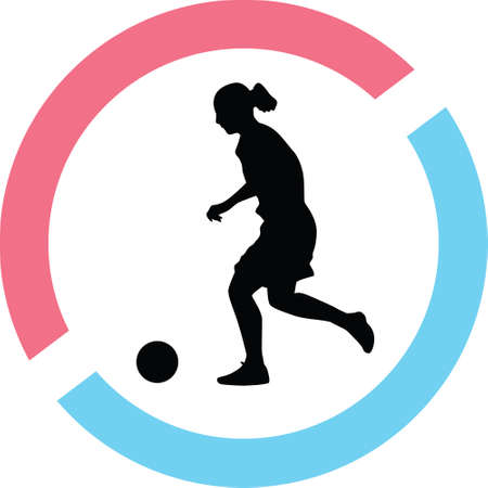 woman play soccer silhouette illustration. Illustration