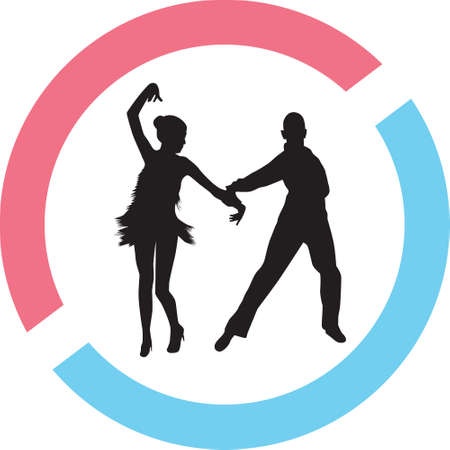 People dancing silhouette vector